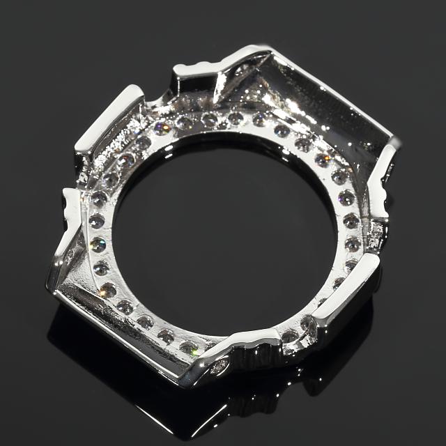 Gショック G-SHOCK GA2100 カスタムパーツベゼル 大粒CZダイヤ(キュービックジルコニア) カスタム 18K ホワイトゴールド