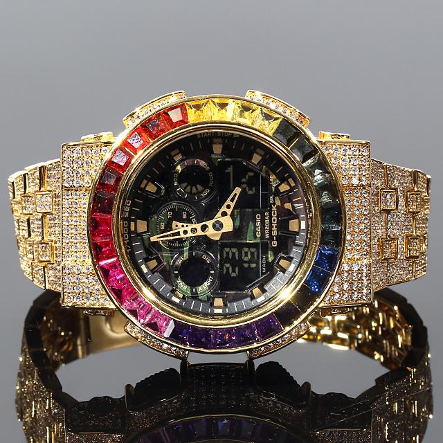 G-Shock GA100   フルカスタム GA100 14K GOLD CZダイヤ