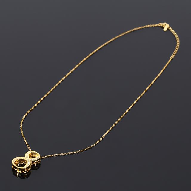ナンバー ペンダント ペアセット ネックレス NUMBER8 CZダイヤ(キュービックジルコニア)S925シルバー【刻印あり】ゴールド ネックレス付き