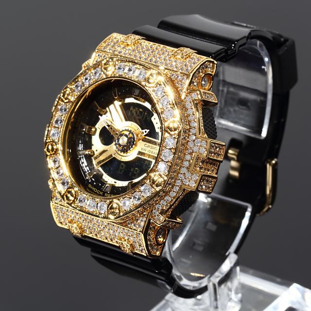 G-SHOCK BABY-G ベイビーG カスタム カスタムGショック 大粒CZダイヤ(キュービックジルコニア) ゴールド