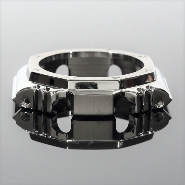 G-SHOCK GA2100専用 カスタム メタルパーツ フルカスタム シルバー 金属アフターパーツ Gショック 着せ替え おしゃれ ※時計本体は含まれません