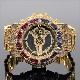 G-SHOCK カスタム GA110GB フルカスタム 22mm極太ベルト Gショック バゲットCZダイヤ(キュービックジルコニア)カラーストーン ゴールド