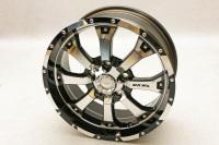 オフロード ラグジュアリー MKW MK-46  7.5J-17インセット+35 Diacut/Gloss Black
