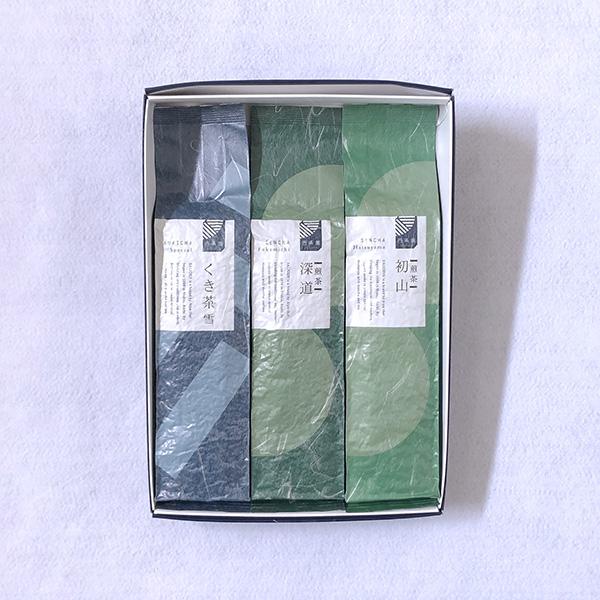 煎茶深道(200g袋入)・ くき茶雪(200g袋入)・ 煎茶初山(200g袋入) 「A-101」