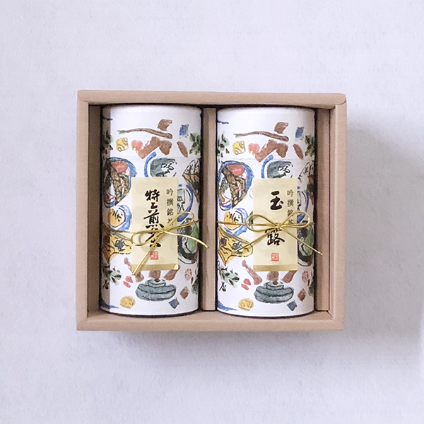 玉露(200g缶入)・ 特上煎茶(200g缶入) 「A-104」