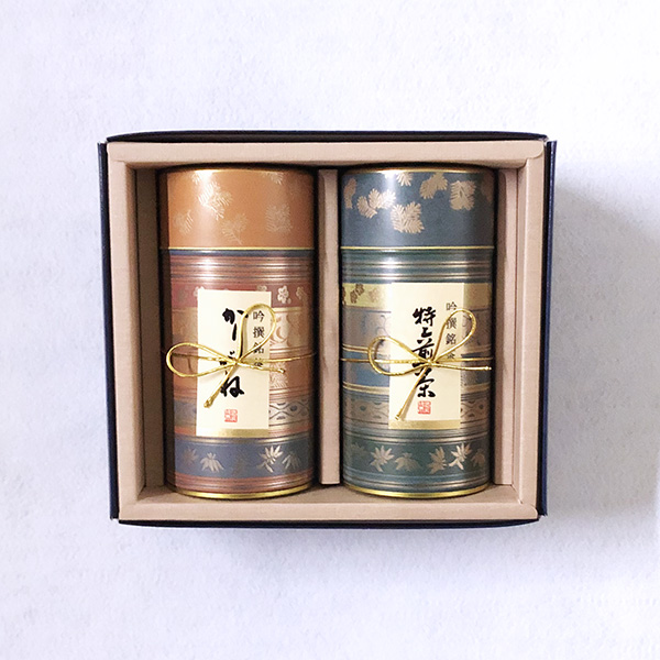 特上煎茶(200g缶入)・ かりがね(180g缶入) 「A-124」