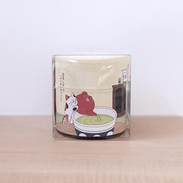 茎ほうじ茶30g入り和紙缶(みたらしちゃん缶「お茶しない?」) クリアカートン入