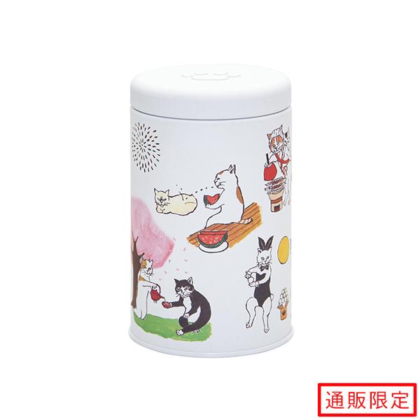 玉露ティーバッグ(ネコカン-にゃん吉ドーナツ-)(2.5g×10袋入) ティーパック 缶入