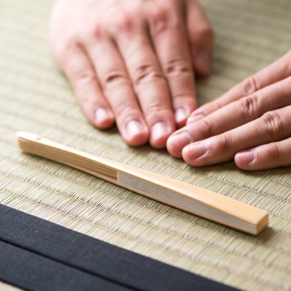 扇子(裏千家用 6寸 男性用 白竹) (茶道具セット 茶道 薄茶用 抹茶 ギフト 贈り物)