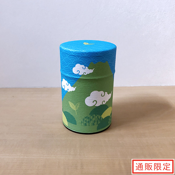 上煎茶100g缶入 富士山缶(クリアカートン入り) 冬柄