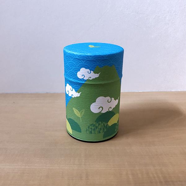 上煎茶100g缶入 富士山缶(クリアカートン入り) 夏柄