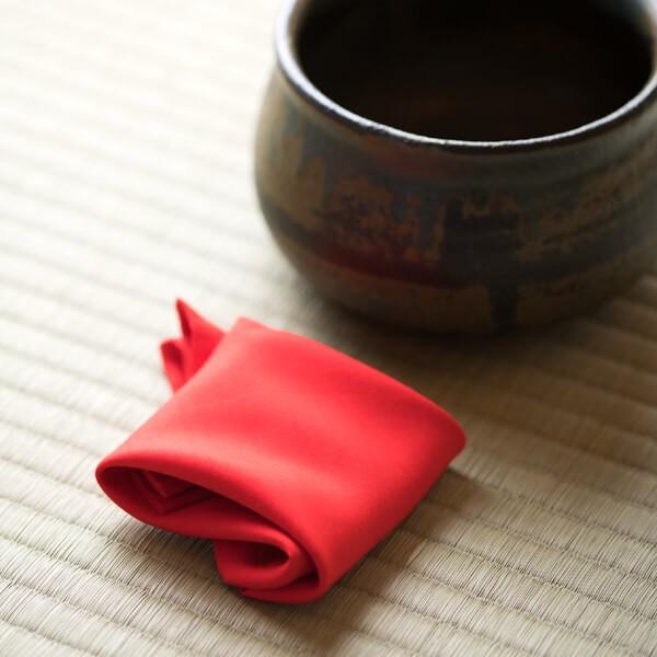 袱紗(お稽古用)(赤) (茶道具セット 茶道 薄茶用 抹茶 ギフト 贈り物)