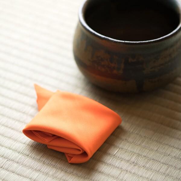 袱紗(お稽古用)(オレンジ) (茶道具セット 茶道 薄茶用 抹茶 ギフト 贈り物)