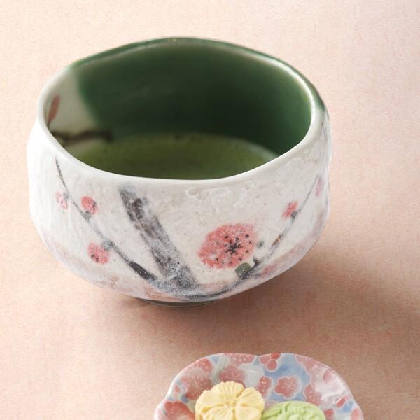 抹茶茶碗(梅) (茶道具セット 茶道 薄茶用 抹茶 ギフト 贈り物)