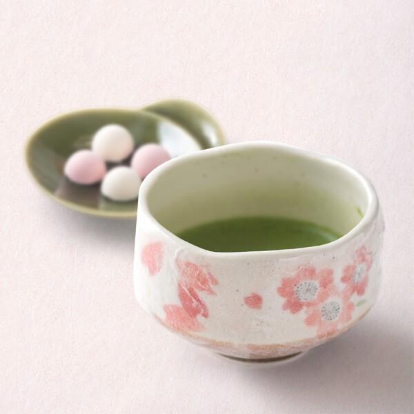 抹茶茶碗(桜) (茶道具セット 茶道 薄茶用 抹茶 ギフト 贈り物)