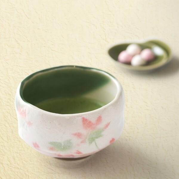 抹茶茶碗(もみじ) (茶道具セット 茶道 薄茶用 抹茶 ギフト 贈り物)