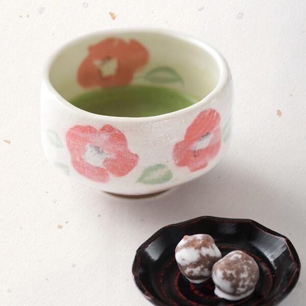 抹茶茶碗(椿) (茶道具セット 茶道 薄茶用 抹茶 ギフト 贈り物)