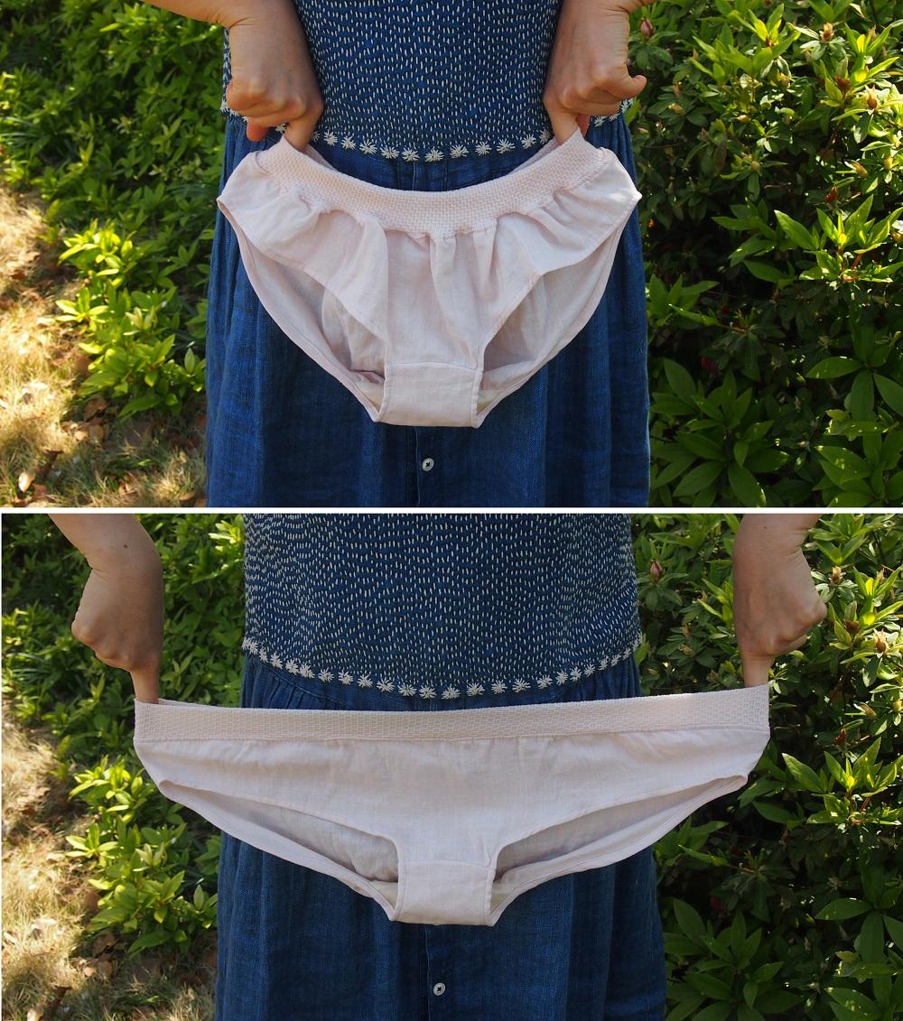レディス ショーツ うぶぱん 無地 ピンク グレー ネイビー グリーン パンツ М L ダブルガーゼ  ネコポス 2個まで可能