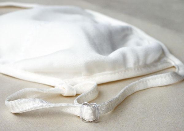 シルク ナイトマスク 正絹100% 布マスク 綿 生成 大人用 日本製【ネコポス可5個】