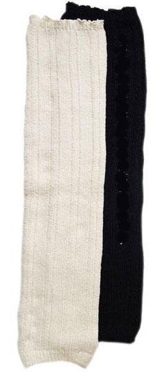 シルク レッグウォーマー 膝上丈 無縫製三次元編み ラサンテ 日本製【ネコポス可1個】