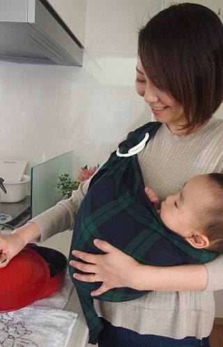 あっきースリング タータン まるまる抱っこ 抱っこひも ベビースリング 日本製