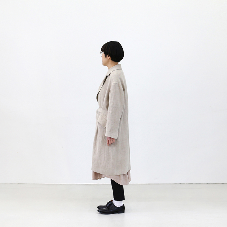 Ataraxia アタラクシア|Linen Chesterfield Coat