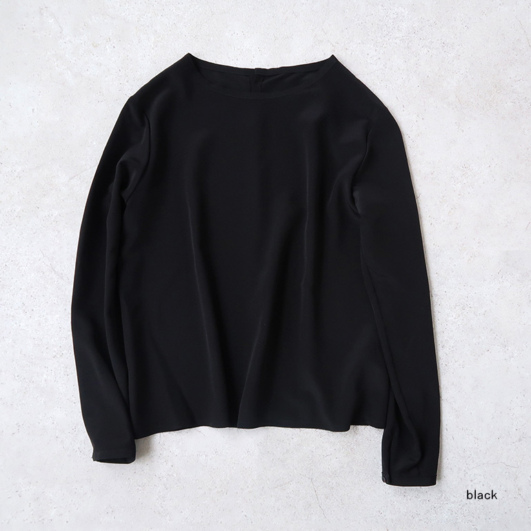 humoresque ユーモレスク|crew neck blouse silk【全2色】