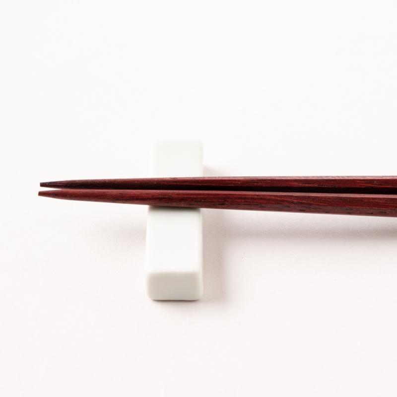 七角 拭漆 パープルハート 23.5cm 桐箱入