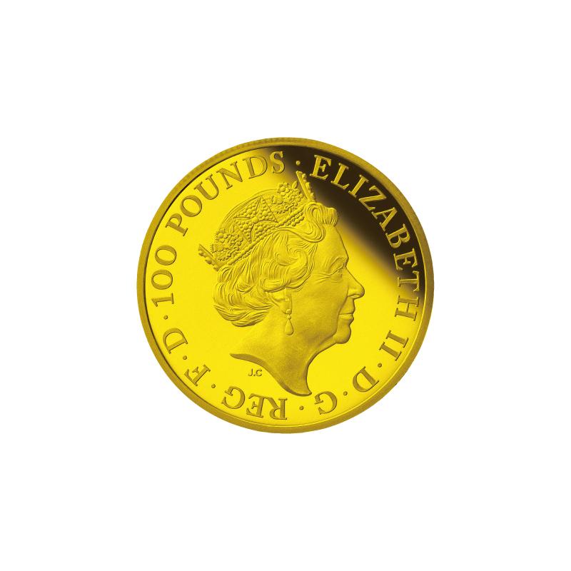 丑年牛図記念コイン A.100ポンド金貨