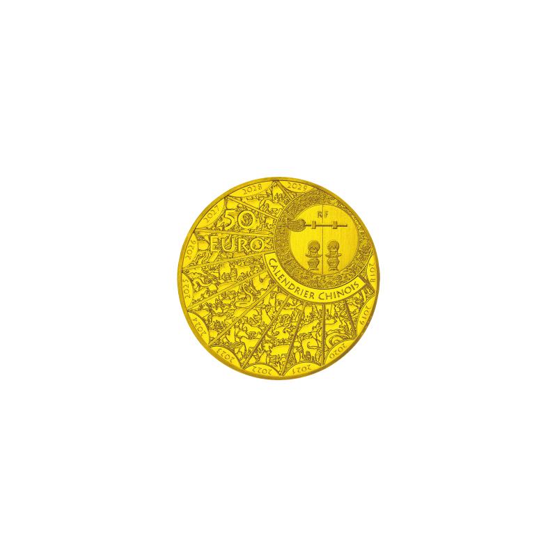 丑年牛図記念コイン B.50ユーロ金貨