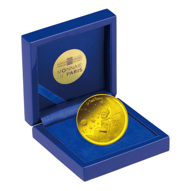星の王子さま フランス版発刊75周年記念コイン B.50ユーロ金貨 ぼくと三日月