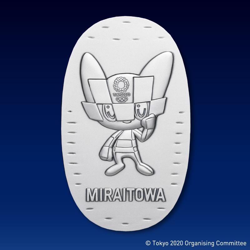 東京2020オリンピック競技大会公式ライセンス商品 ミライトワ記念小判 純銀製