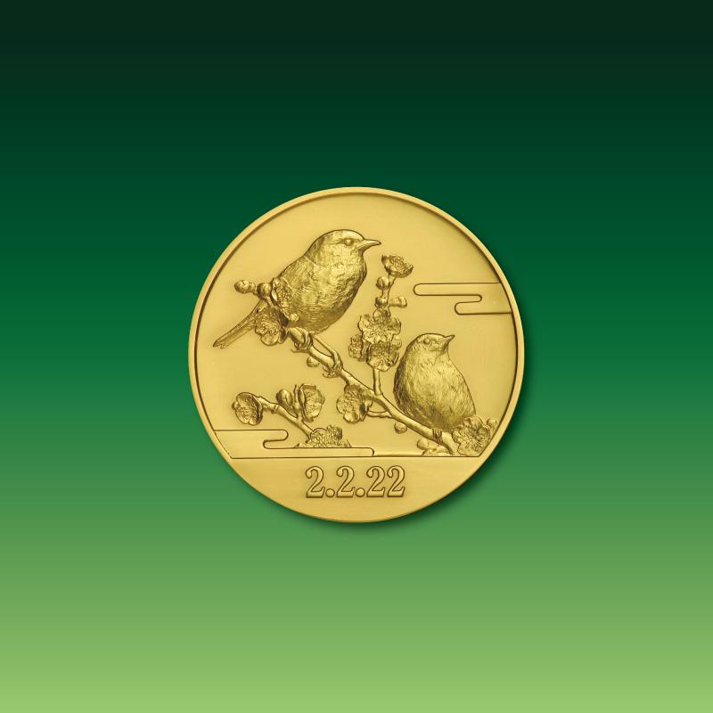 令和2年2月22日記念 記念メダルと記念カバーの特別セット B.純金製のセット