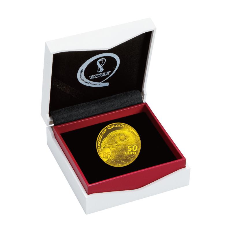 FIFAワールドカップカタール2022公式記念コイン 第1次予約販売 B.フランス50ユーロ金貨