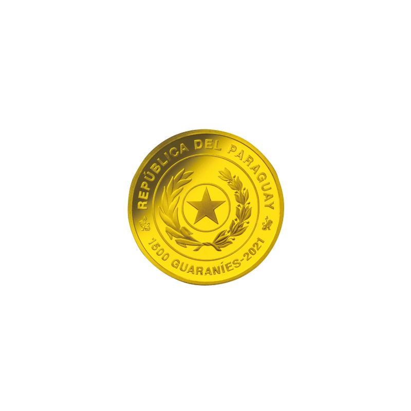 FIFAワールドカップカタール2022公式記念コイン 第1次予約販売 D.パラグアイ1500グアラニー金貨