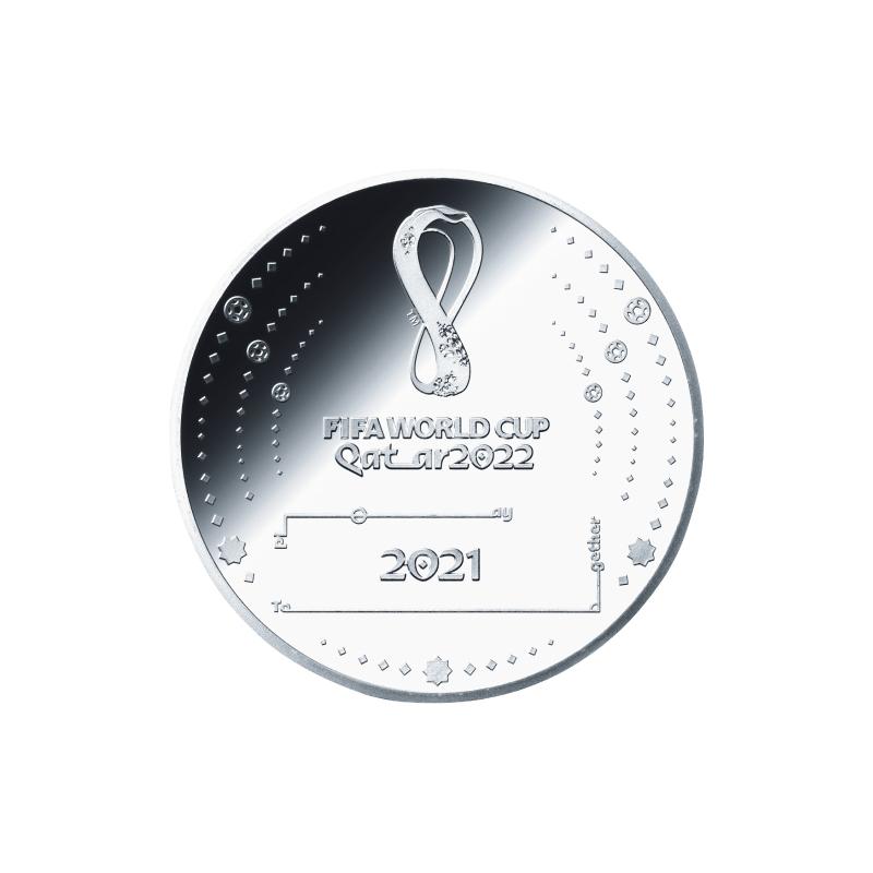 FIFAワールドカップカタール2022公式記念コイン 第1次予約販売 F.銀貨3種セット