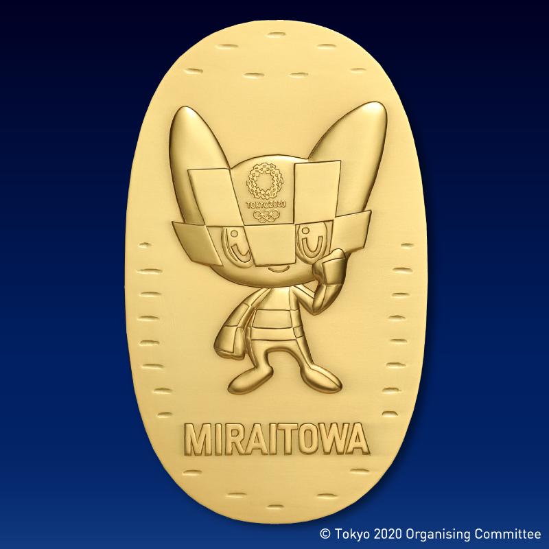 東京2020オリンピック競技大会公式ライセンス商品 ミライトワ記念小判 純金製・大