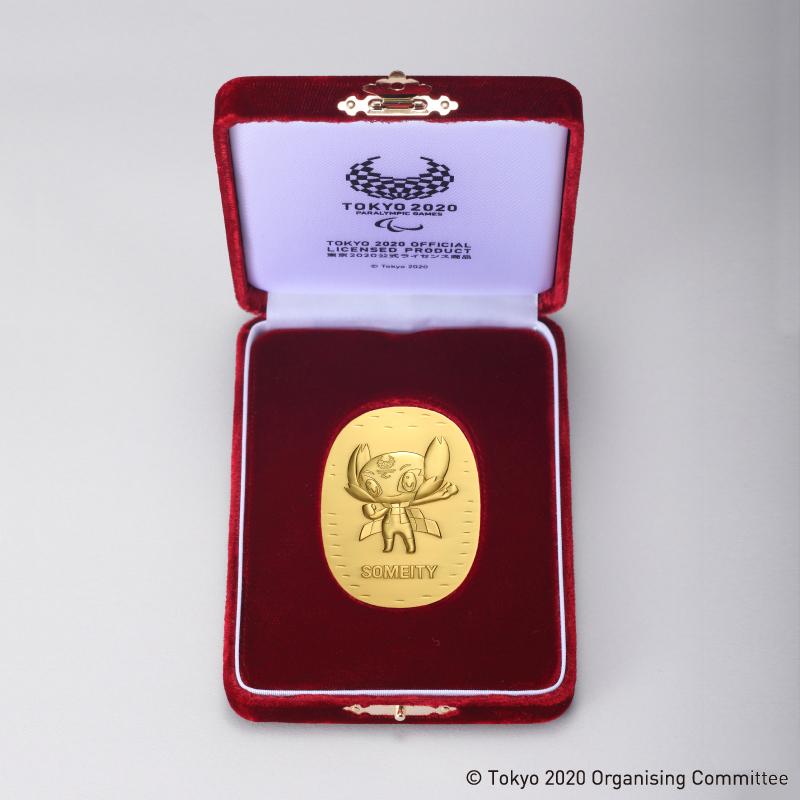東京2020パラリンピック競技大会公式ライセンス商品 ソメイティ記念小判 純金製・中