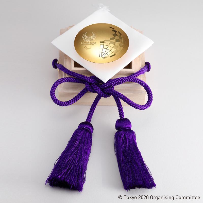 東京2020パラリンピック競技大会公式ライセンス商品 記念御盃 純金製2寸