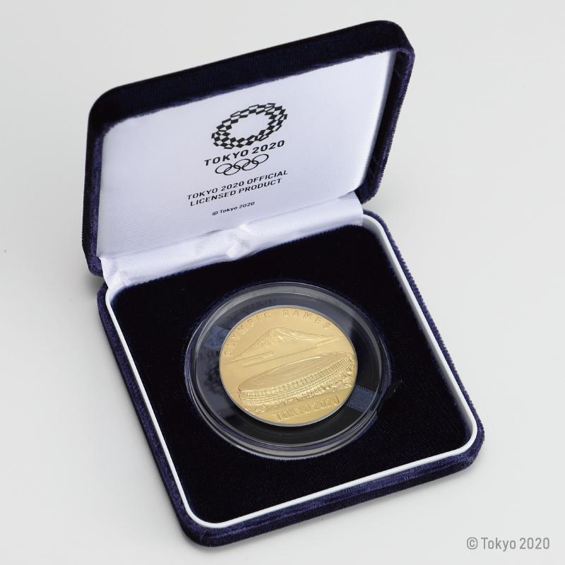 東京2020オリンピック競技大会公式ライセンス商品 記念メダリオン 純金製・大