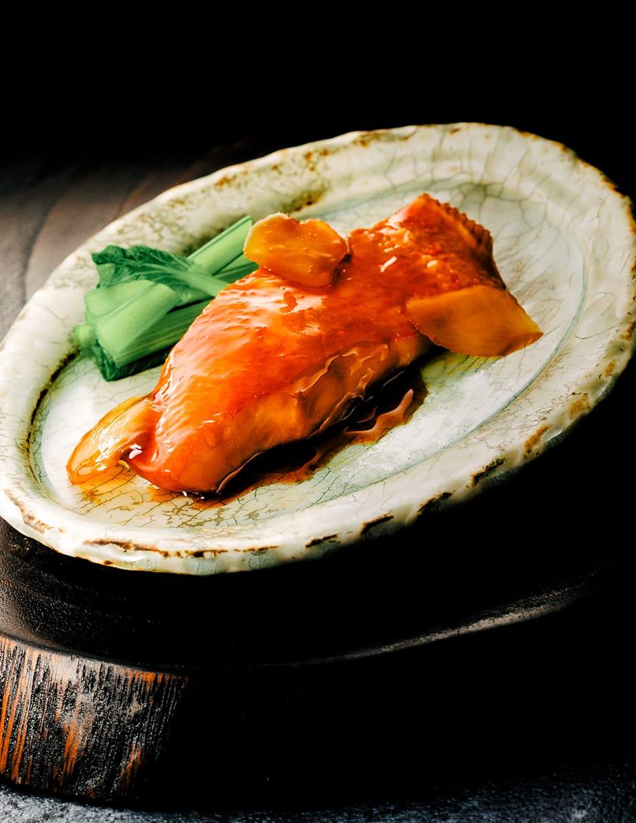 黄金生姜と金目鯛の煮付