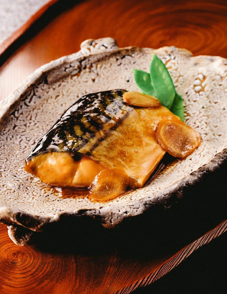 黄金生姜とさばの煮付