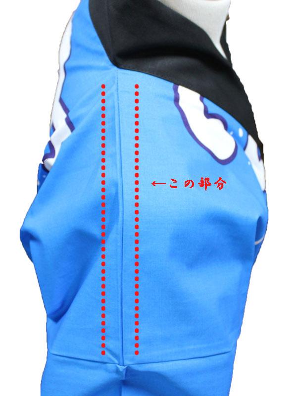 大人顔料プリント法被[舟]6482(青)