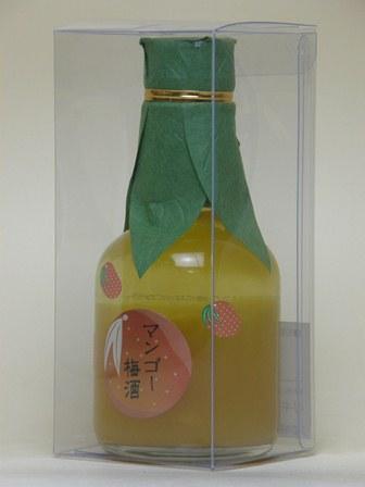 和歌のめぐみ マンゴー梅酒 180ml(クリアケース入り)