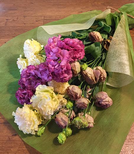 【色・サイズが選べる】リシアンサスたっぷりの花束