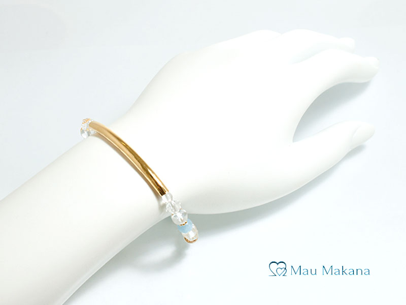 誕生石シリーズ<アクアマリン> 3月マラキ(Malaki Gold)