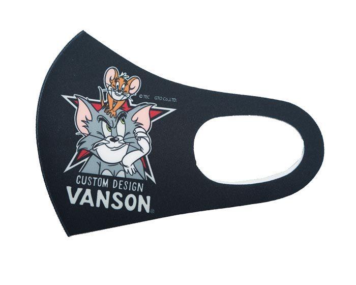VANSON バンソン トムとジェリー コラボ マスク メンズ 洗える 吸水速乾 抗菌防臭 UVカット TJV-2107【バンソンから新作マスクが登場!!】