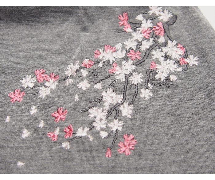 ジャパネスク レディース 桜刺繍 ちりめん斜め切り替え 和柄キャミソール ワンピース/4RKD-601/送料無料【和柄ワンピース】
