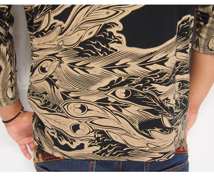satori[さとり] 鳳凰柄 和柄7分袖Tシャツ/GPT-001/送料無料【satori[さとり]から新作和柄アイテムが登場!!】