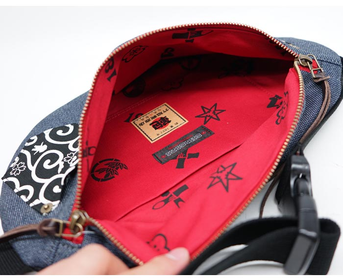 CHIGIRI ちぎり 和柄 ウエスト ショルダー バッグ 日本製 BAG 鞄 金襴 唐草 CHS41-1082 送料無料【ちぎりから新作和柄バッグが登場!!】